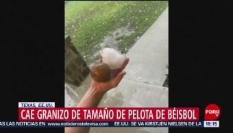 FOTO: Granizo de tamaño de pelota de béisbol cae en Texas, 7 de abril 2019