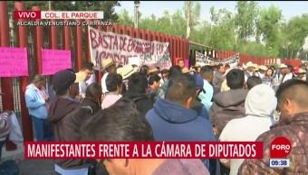 Habitantes de Hidalgo apoyan a Cipriano Charrez frente a San Lázaro