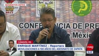 Habrá movilizaciones por aniversario luctuoso de Zapata