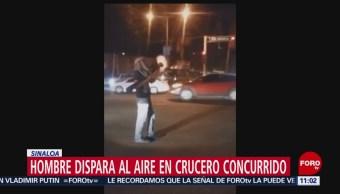 Hombre dispara una bazuca en Culiacán, Sinaloa