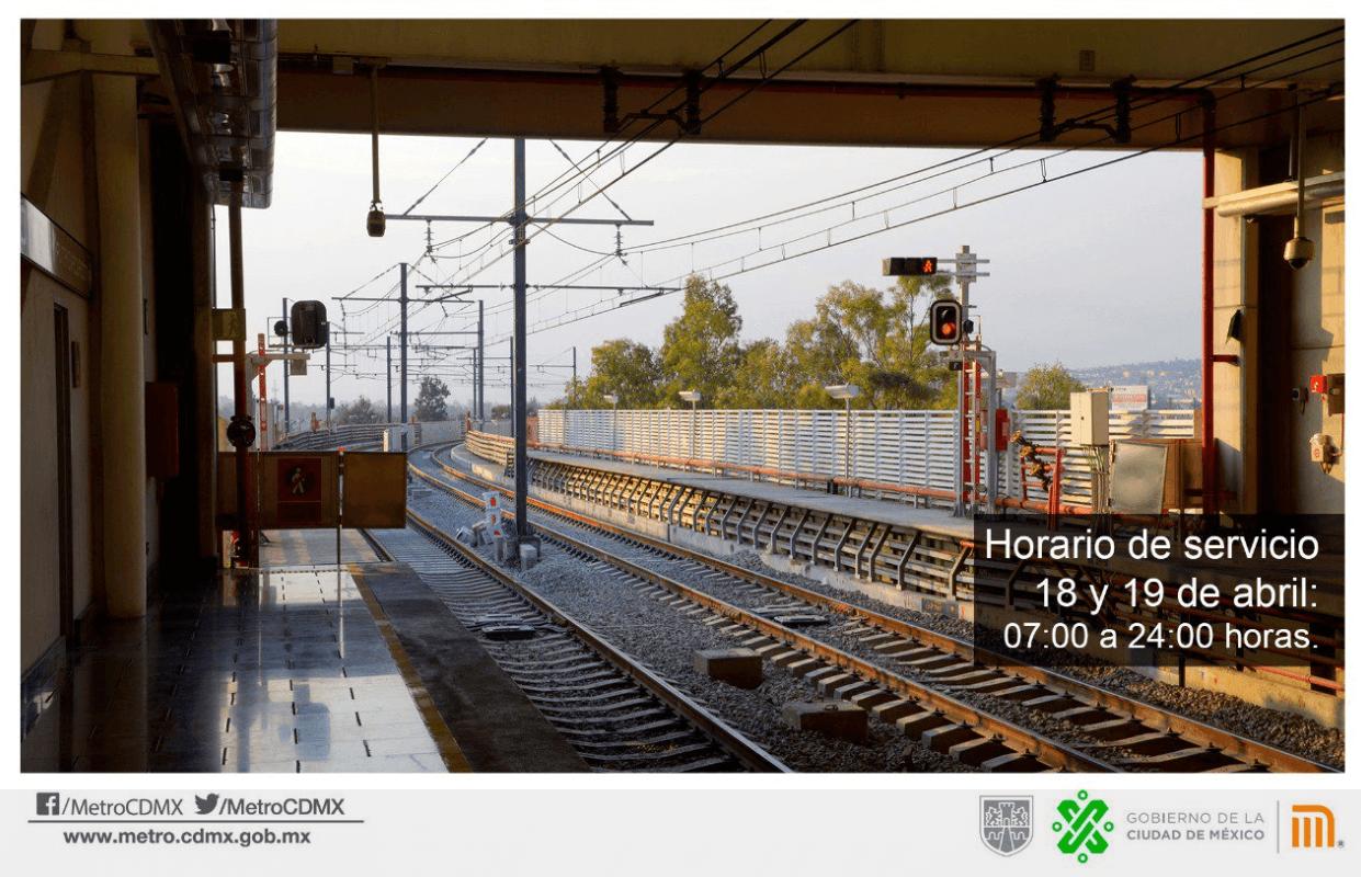 Foto: Horarios de servicio del Metro, jueves y viernes santos, abril 2019, México