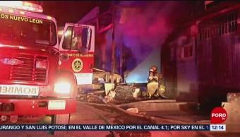 Incendio destruye carpintería en monterrey, Nuevo León