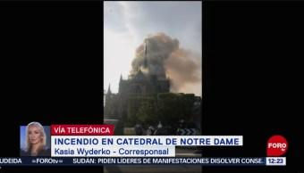 FOto: Incendio en la Catedral de Notre Dame, en París