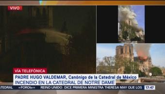 Foto: Incendio en Notre Dame es una pérdida para la humanidad