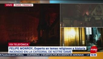 Foto: Incendio en Notre Dame, herida a la historia de la civilización occidental: Experto