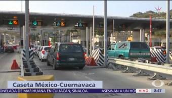 FOTO: Incrementa carga vehicular en autopista México-Cuernavaca, 19 ABRIL 2019