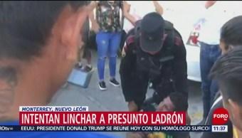 Intentan linchar a presunto ladrón en Monterrey, Nuevo León