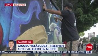 Foto: Intervienen con graffitti barda de escuela pública