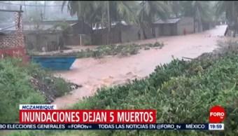 FOTO: Inundaciones dejan 5 muertos en Mozambique, 28 ABRIL 2019