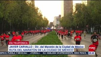 Foto: Javier Carvallo explica nueva ruta del maratón CDMX