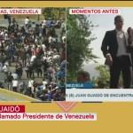 Juan Guaidó protesta junto a seguidores en Altamira