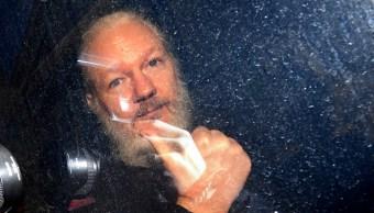 fOTO: Julian Assange llega a la Corte de Magistrados de Westminster en Londres, 11 abril 2019