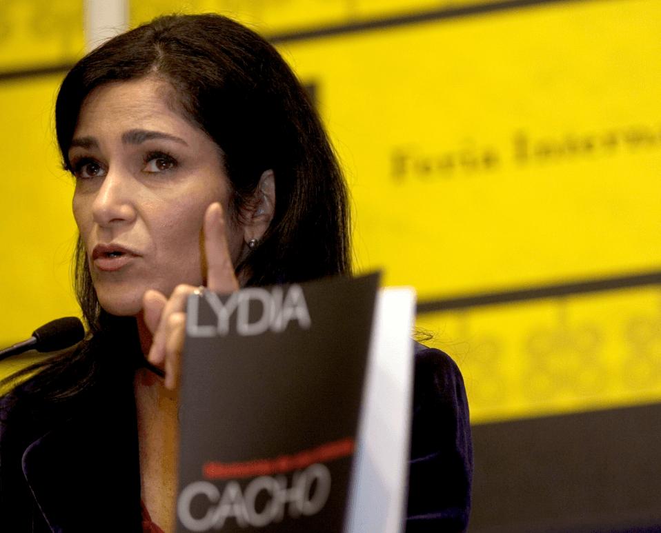 Foto: La periodista Lydia Cacho, 29 de noviembre de 2007, Guadalajara, México