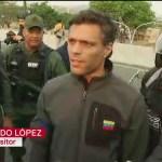 Leopoldo López, ya liberado, convoca a unirse a Guaidó