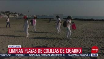 Foto: Limpian playas de colillas de cigarros en Veracruz