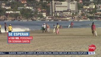 FOTO: Limpian playas en espera de vacacionistas en Oaxaca, 13 de abril 2019