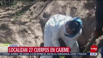 FOTO: Localizan 27 cuerpos en Cajeme, Sonora, 14 de abril 2019
