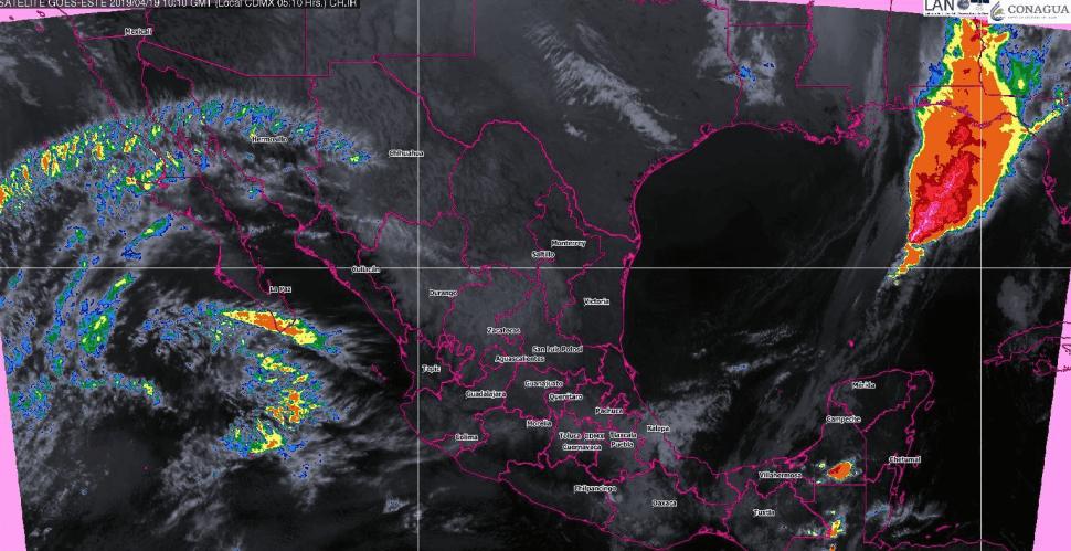 Foto: Mapa satelital de la República Mexicana, 19 de abril de 2019, México