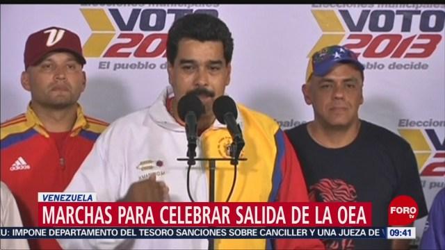 FOTO: Marchas en Venezuela para celebrar su salida de la OEA, 27 ABRIL 2019