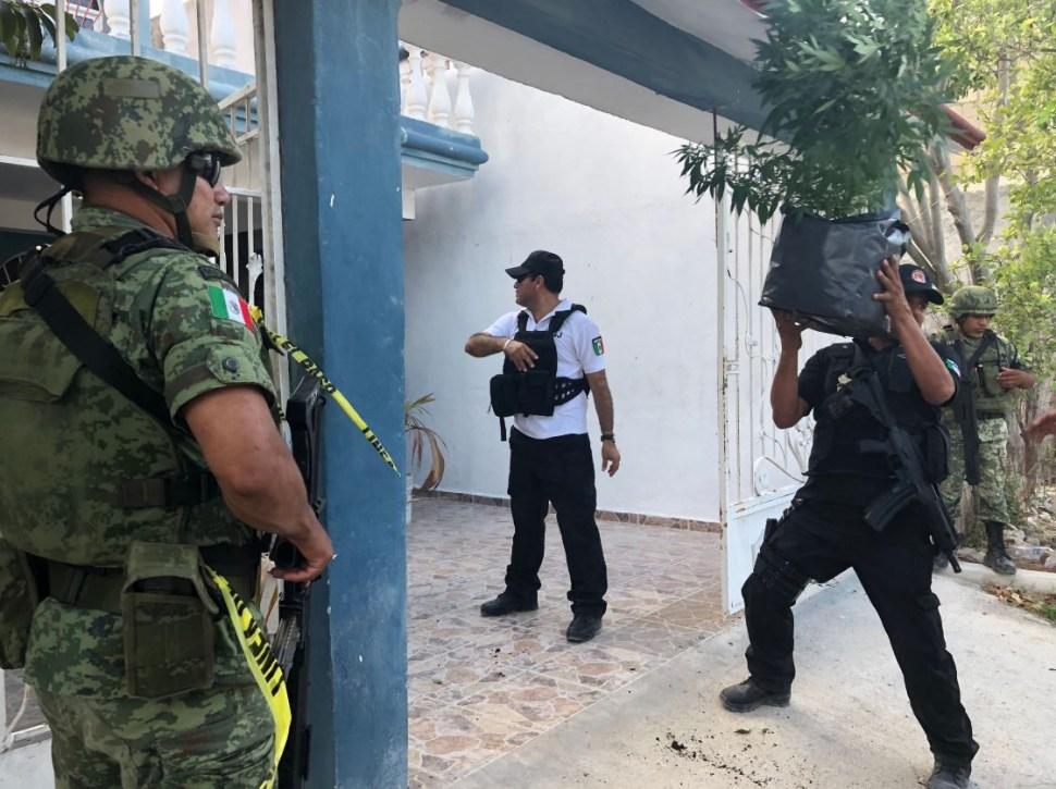 Aseguran dos inmuebles utilizados como invernaderos de marihuana en Cancún