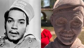 Cantinflas-Mario-Moreno-Busto-Escultura-Amado-Montalvo-San-Luis-Potosi-AMLO-Benito-Juarez-Escultura-Busto-Memes, Ciudad de México, 19 de abril 2019