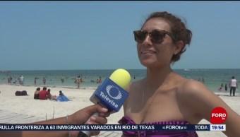 FOTO: Más de 100 mil turistas disfrutaron de las playas en Campeche, 27 ABRIL 2019