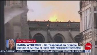 Foto: Bomberos ControlaN Fuego Notre Dame 15 de Abril 2019