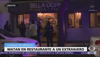 Matan a un italiano en restaurante de la CDMX