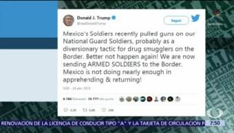 México no hace suficiente para arrestar a migrantes, dice Trump