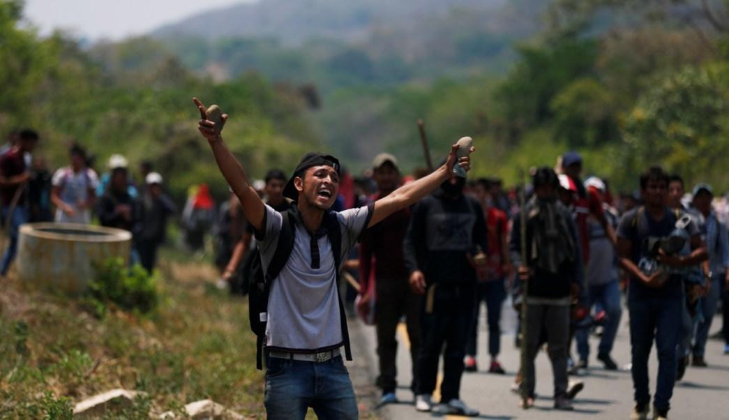 Caravana migrante sigue su trayecto hasta Arriaga