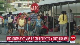 FOTO: Migrantes víctimas de delincuentes y autoridades, 13 de abril 2019