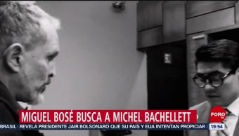 Foto: Miguel Bosé Busca Michel Bachellett Visite Venezuela 8 de Abril 2019