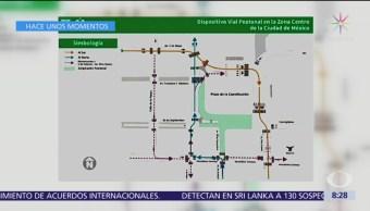 Mitad del circuito del Zócalo será peatonal los fines de semana