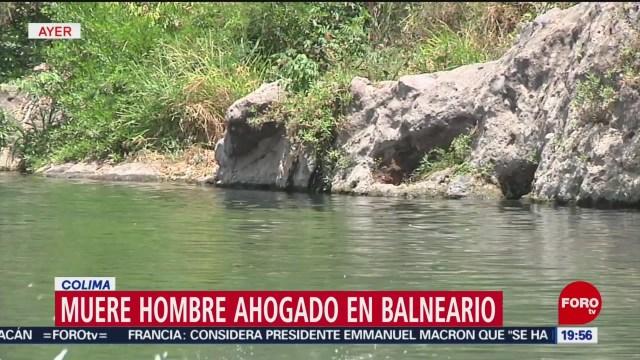 Foto: Muere Hombre Ahogado En Balneario Colima 15 de Abril 2019