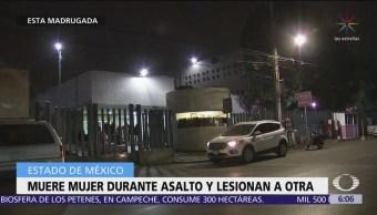 Muere mujer durante asalto en transporte público en Edomex