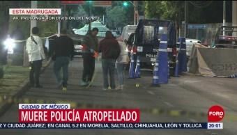 FOTO: Muere policía atropellado en la Ciudad de México, 13 de abril 2019