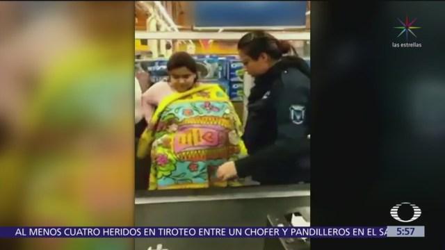Mujer finge cargar a bebé para robar centro comercial en CDMX