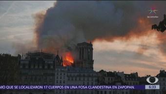 Notre Dame, patrimonio de la humanidad, dañada por el fuego