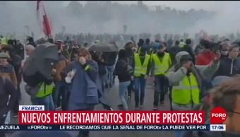 FOTO:Nuevos enfrentamientos durante protestas en Francia, 27 ABRIL 2019