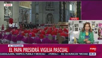 FOTO:Papa Francisco presidirá la Vigilia Pascual, 19 ABRIL 2019