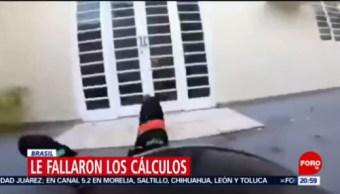 Foto: Paracaidista Falla Aterrizaje Estrella Pared 23 de Abril 2019