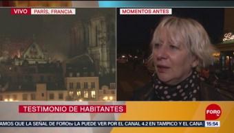 Foto: Parisinos hablan de momento del incendio en Notre Dame