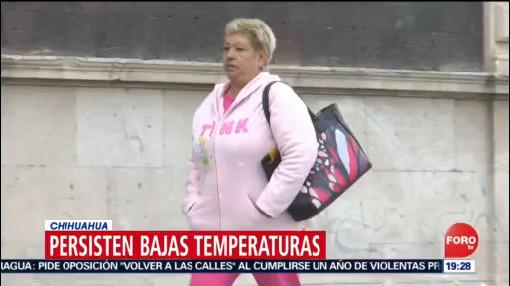 FOTO: Persisten bajas temperaturas en Chihuahua, 14 de abril 2019