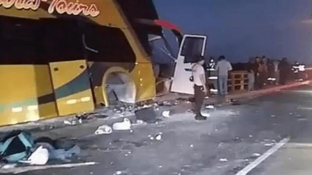 Foto: Se accidenta autobús con seguidores de Alan García, 19 de abril de 2019, Perú
