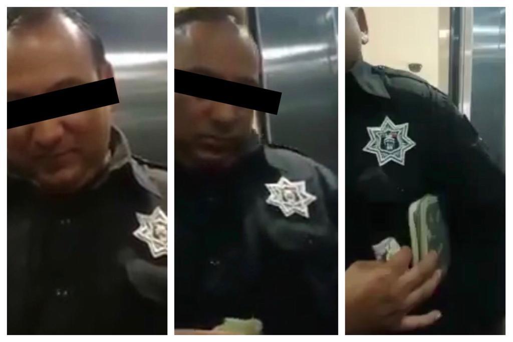 foto Video: Captan a policía de Tlalnepantla recibiendo 'soborno' 11 abril 2019