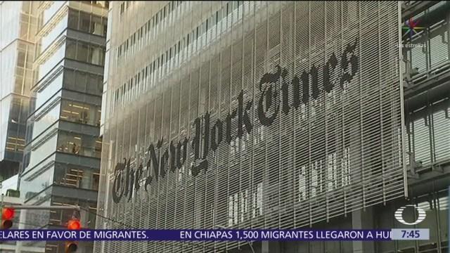 Premio Pulitzer al NYT por cobertura sobre Trump