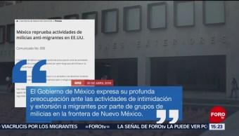 FOTO: Preocupa a México intimidación de grupos antinmigrantes en EU, 20 ABRIL 2019