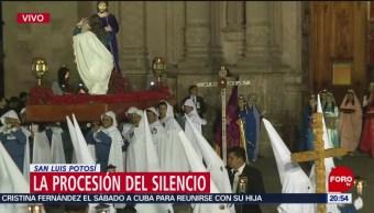 FOTO: Procesión del Silencio en San Luis Potosí, 19 ABRIL 2019