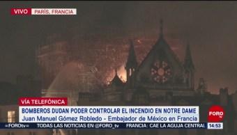 Foto: Profunda tristeza, por el incendio que consume Notre Dame: embajador