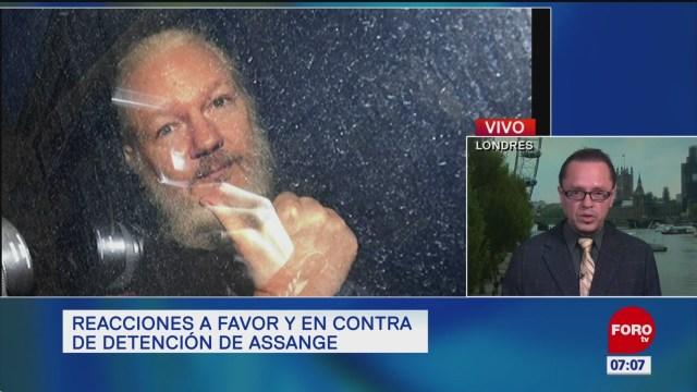 Reacciones a favor y en contra sobre la detención de Assange